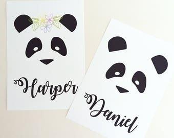 Panda Personalised Print