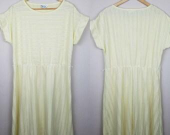 1980s vintage yellow dress