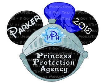 Princess Protection Agency Knight Ears - 5 Color Options! - Iron-On OR Magnet