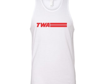 Retro Twa Airlines Shirt Plane Model 70S 80S 90S Pride Tank Top DT1219