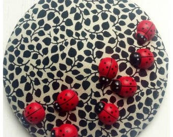 Headpiece, Fascinator with lady bugs!