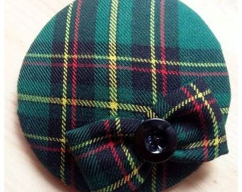 "Headpiece, fascinator ""green scotsman"""