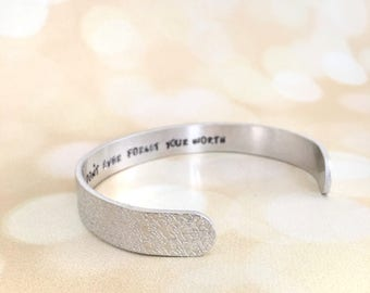 Secret Message Bracelet, Hidden Message Jewelry, Mothers Day Gift, Custom Message Cuff Bracelet, Inspirational Cuff, Graduation Birthday