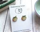 Teacher Gift, Apple Stud Earrings, Teacher Appreciation, Thank You Gift, End  of Term, Form Tutor, Graduation, Gift for Her, Leaving Gifts.
