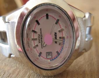 "Vintage Pulsar Pink Silver SpoonQuartz Watch 7.25"" (1968)"