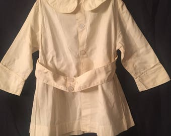 1940's- 1950's pale Yellow coat with hat