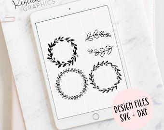 Hand Drawn wreaths | SVG | Illustrator | Clip art | Instant Download