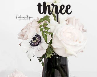 Wedding Table Number centerpiece Picks