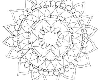 Mandala Drawing Page