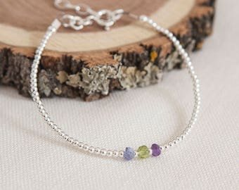 Family Birthstone Bracelet, Dainty Bracelet, Family Birthstone Jewellery, Personalised, Family Birthstones, Dainty Bracelet