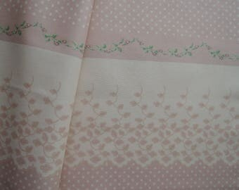 """Fat Quarter of Kono Sanae Dots, Lace border in Pink by Yuwa. Approx. 18"""" x 22"""" Made in Japan."""
