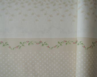 """Fat Quarter of Kono Sanae Dots, Lace border in Cream by Yuwa. Approx. 18"""" x 22"""" Made in Japan."""