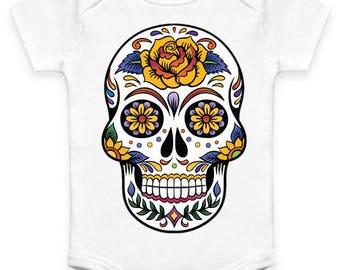 Sugar Skull Tattoo Baby Clothes