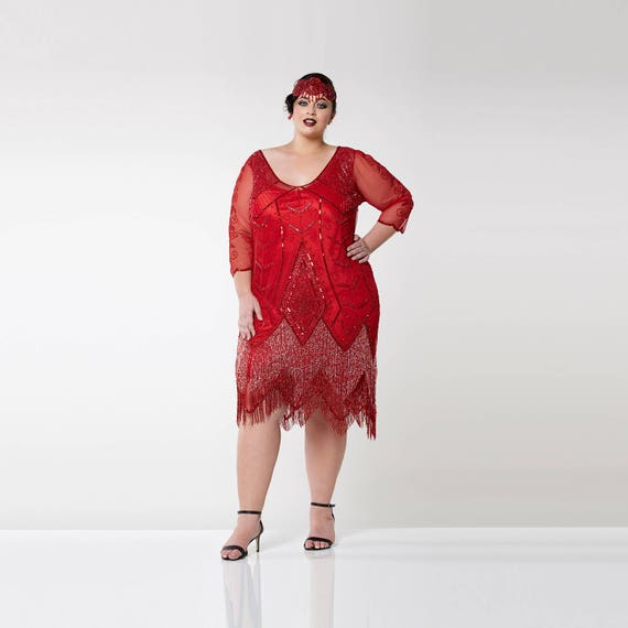 Flapper inspired plus size dress
