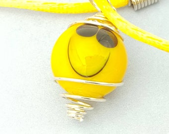 emoji jewellery, small gift, cheerful gift, be happy, inspirational gift, happy pendant, gifts for her, happy necklace, collectable marbles