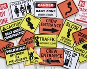 Construction Theme Baby Shower!  Hard Hat Required... It's a Boy!  Printable Signs!