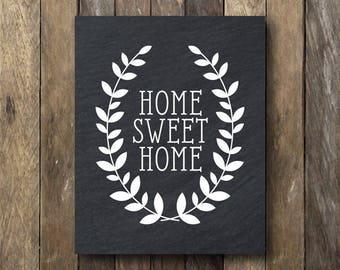 Home Sweet Home Printable - Entryway Printable Art - Home Sweet Home Print - Chalk Home Sweet Home - Printable Art - Home Sweet Home Sign