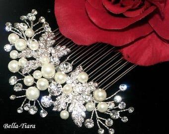 wedding hair comb, pearl bridal comb, wedding comb, pearl wedding comb,  wedding hair clip, ivory pearl hair comb, wedding comb