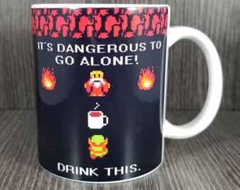 Legend of Zelda Dangerous to Go Alone Ceramic 11oz Mug