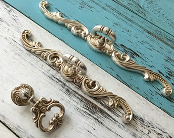 Silver knobs Etsy