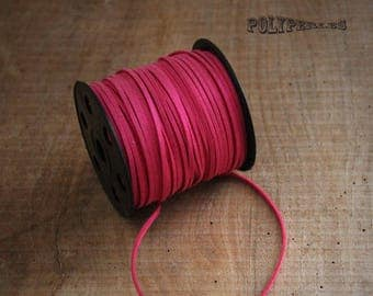 hot pink suede cord 1 m