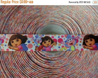 "MOVING SALE DORA The Exporer 7/8"" 22mm Grosgrain Hair Bow Craft Ribbon 2981"