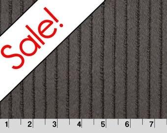 SALE Charcoal Embossed Ribbon Minky Fabric, Shannon Fabrics, per Yard