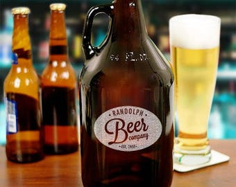 Personalized Beer Growler, Craft Beer, Gifts For Him