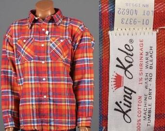SALE 4XL Flannel Shirt 1960s 4XL Flannel Shirt Tartan Plaid Flannel Shirt Extra Large Lumberjack Flannel Shirt Deadstock Workwear Flannel Sh