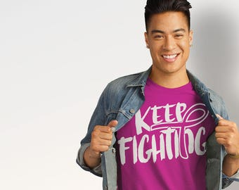 Breast Cancer, Pink, Awareness, Ribbon, T-shirt - Fighting