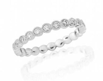 Diamond Platinum Full Eternity Ring