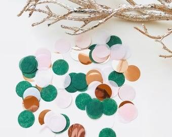 """Tissue Paper 1"""" Party Confetti - Emerald Rose"""