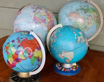 world maps earth globes vintage library mad men office decor mid century modern living room decor