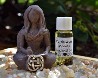 Cerridwen figurine and Magickal / Anointing Oil; FB1110