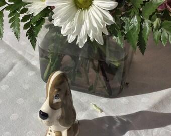 Vintage ceramic dog.
