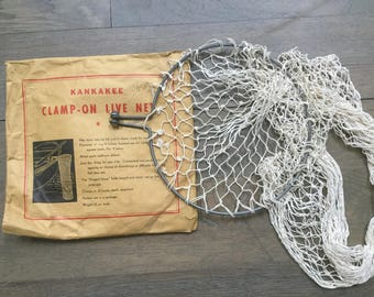 Vintage clamp -on fishing net fishing tool