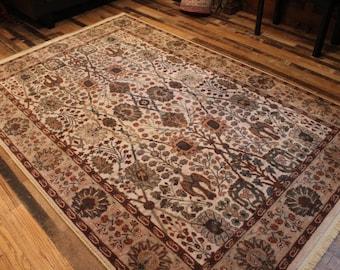 karastan area rug 5x8 rug vintage classic elegant original earthy colors - 5x8 Rugs