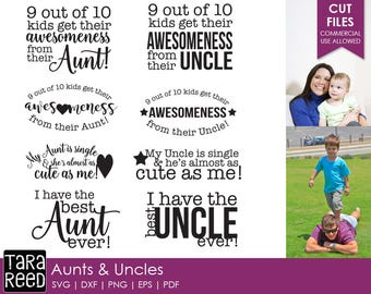 Aunt svg files / Uncle svg files / Best Aunt svg files / Best Uncle svg files / svg for Cricut / svg for Silhouette / Commercial Use Allowed