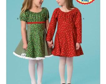 Kwik Sew Pattern. s Dress s for Little Girls Girls Winter Dress  Girls Back to School DressGirls Easter Dress  #K0185