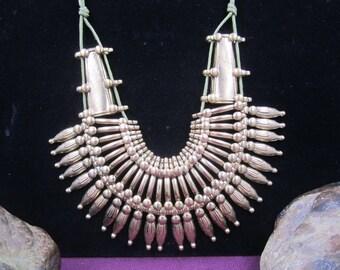 Gorgeous boho style brassy gold choker statement necklace