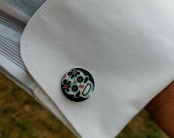 Cuff Links - Sugar Skulls
