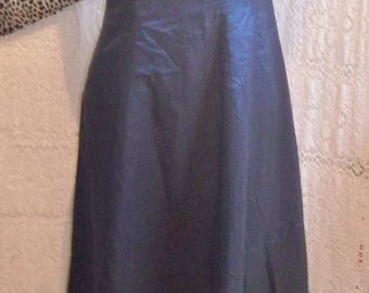 gorgeous Vintage Designer-Gina-Bacconi-midnight-blue-taffeta-eve-dress-full-length-Size12