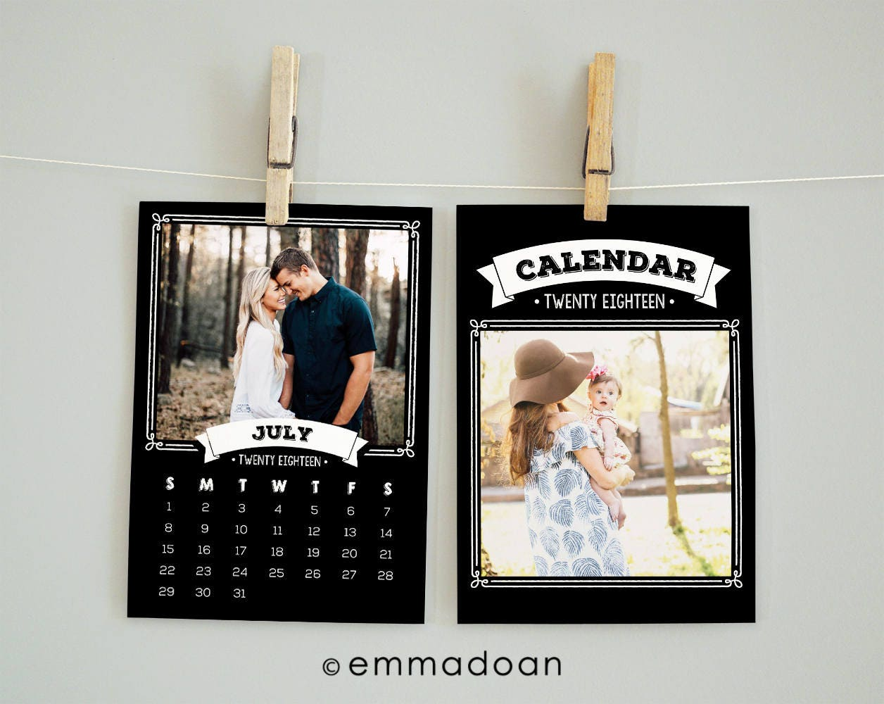 Chalkboard Calendar Canada : Chalkboard calendar template pocket
