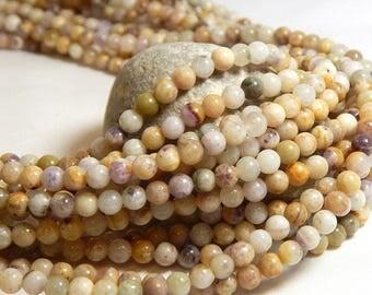 4mm Purple Jasper, Tiny Gemstones, 4mm Jasper, Natural Jasper, Small Round Gemstones, 4mm Gemstones, Earthy Beads, Light Color Jasper, B-35A
