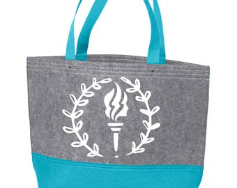 100% Polyester Felt Young Women tote bags