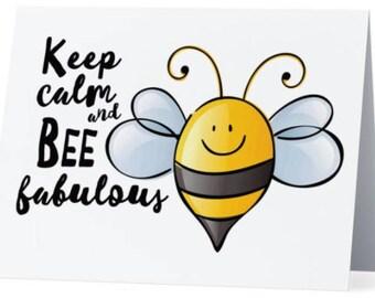 Greeting Card: 'Bee Fabulous'