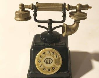 Vintage die-cast Pencil sharpener old time telephone