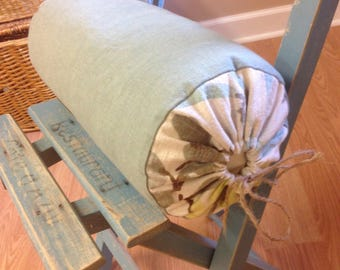 Custom Bolster Pillow Cover with Drawstrings - choose your own fabrics and size