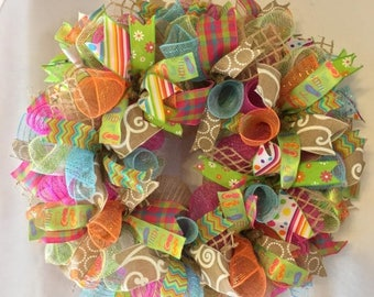 Sale Flip flop wreath, summer wreath, summer wreaths, mesh summer wreath, summer, wreath, flip flop wreaths, summer door decor, wreath