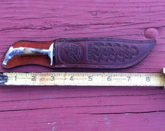 Mexican Hunting Knife : Small Fighting-Hunting Knife with  nice Sheath